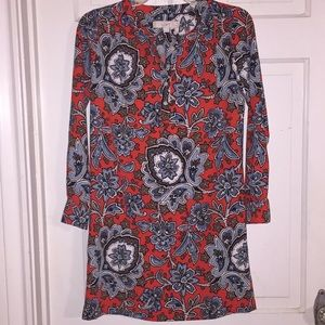 NWOT Loft Petite Floral Dress.  Size XXSP